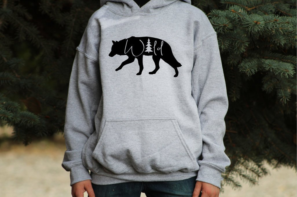 Wild Wolf Youth Outdoor Hoodie