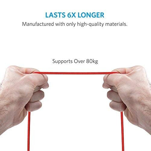 Anker PowerLine+ Lightning Cable (6ft) - Red