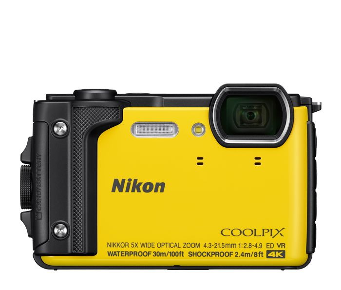 Nikon Coolpix  W300 - 16 MP, Underwater Digital Camera, Camouflage, Yellow