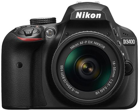 Nikon D3400 - 24.2 MP SLR Camera, AF-P 18 - 55mm f/3.5 - 5.6G VR Lens