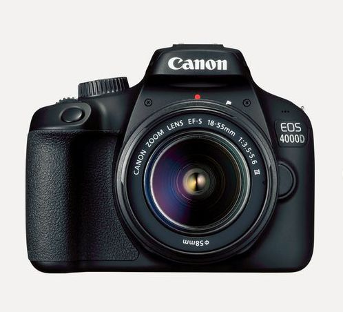 Canon EOS 4000D EF-S 18-55mm III Lens, Black