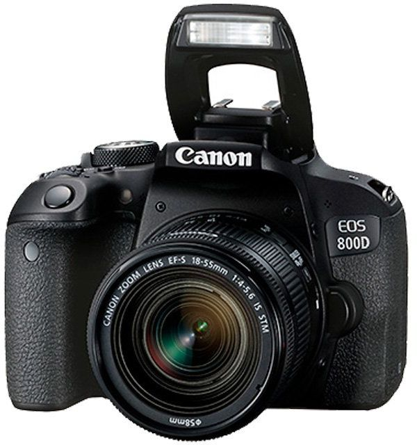 Canon EOS 800D EF-S 18-55mm F4-5.6 IS STM lens - 24.2 MP, DSLR Camera, Black