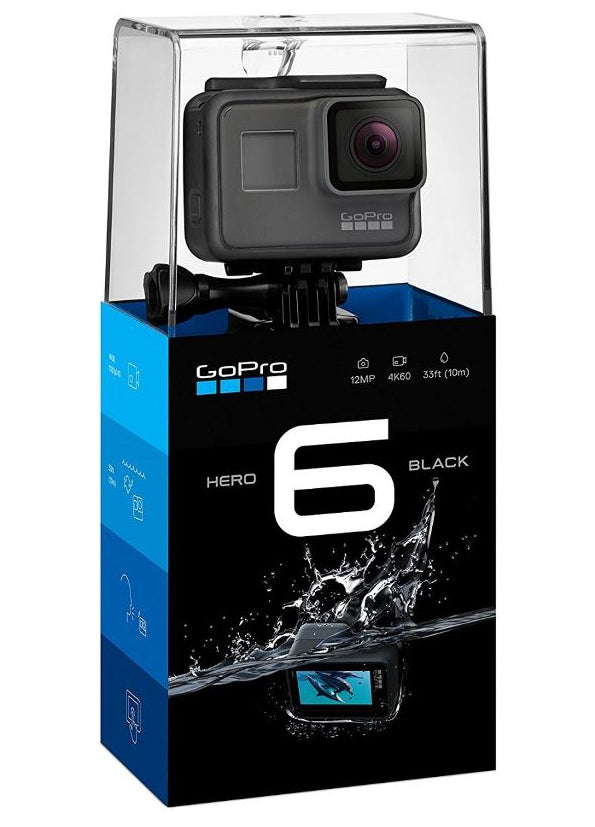 GoPro Hero6 Black -12 MP, 4K Ultra HD Action Camera