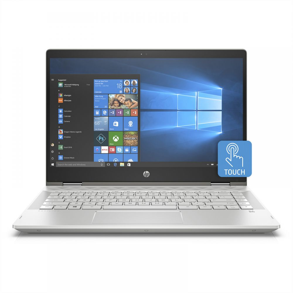 "HP PAVILION X360  14-CD0002NE  4MK01EA ( CORE i5  8250U, 8GB, 1TB+128S, 14""HD TOUCH-FLIP, WIN 10)"