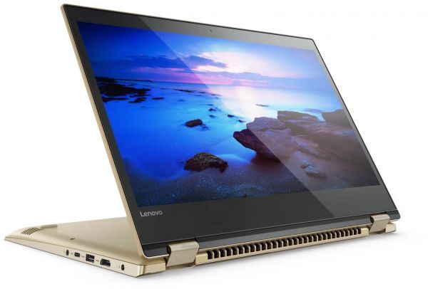 "LENOVO YOGA520-14ISK-81C800GAAX-Gold (CORE i3  8130U, 4GB, 1TB, 14.0"" HD TOUCH- FLIP,WIN 10)"