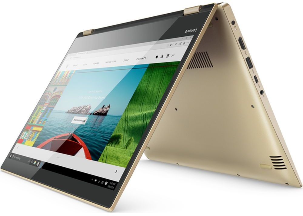 "LENOVO YOGA520-14IK-81C800AAAX -Gold ( CORE i7  8550U, 16GB,	1TB+128S, 14.0"" TOUCH- FLIP,WIN 10)"