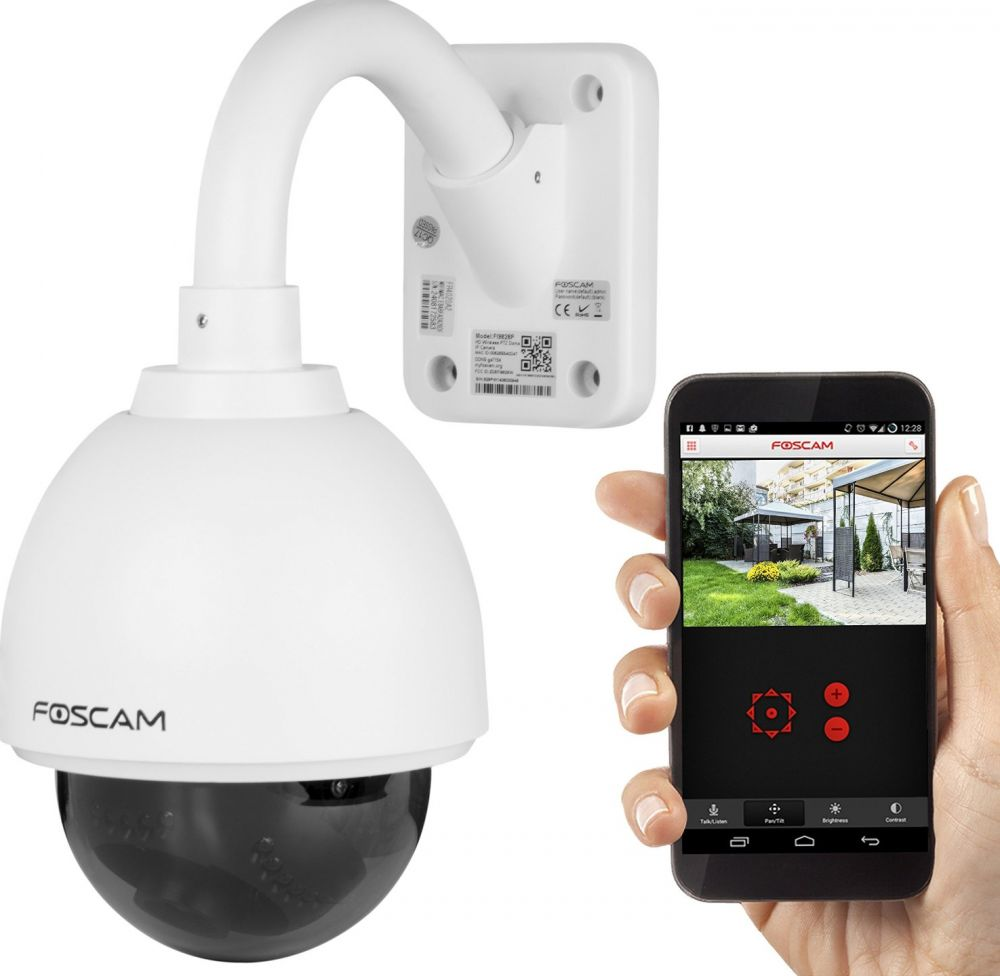 Foscam FI9828P 1.3 Megapixel, 3x Optical Zoom H.264 Wireless Outdoor PTZ IP Camera