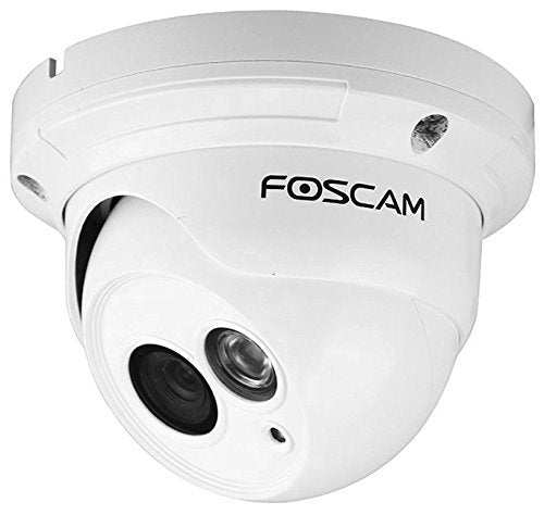 Foscam FI9853EP Outdoor Dome 720P Power Over Ethernet P2P IP Camera White