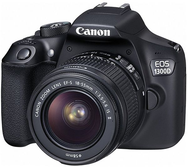 Canon EOS 1300D Lens Kit- 18 MP, DSLR Camera, 18 - 55mm 3.5-5.6 IS II