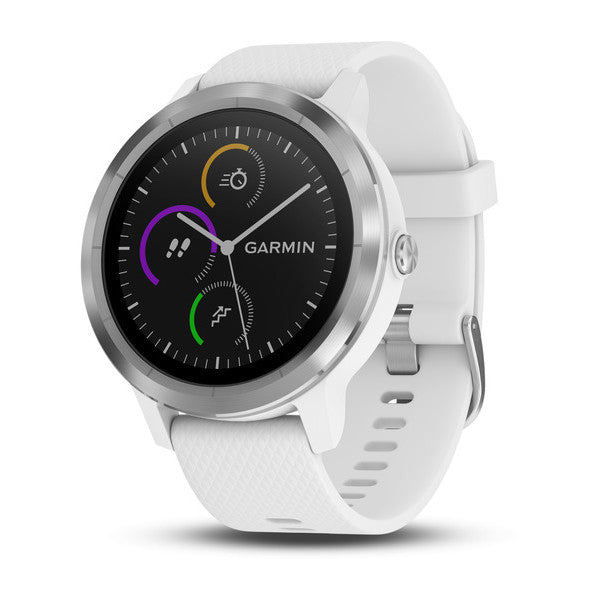 vívoactive® 3 white silicone, stainless steel