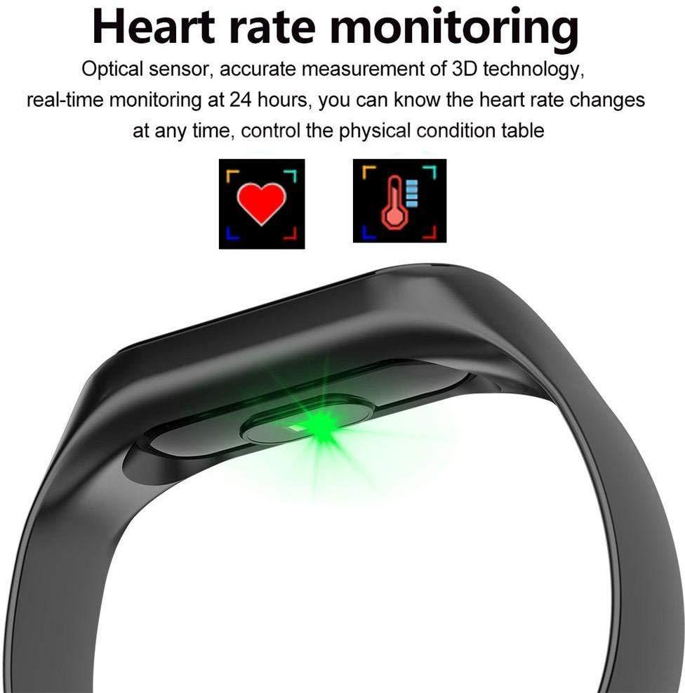 M3 Smart Bracelet Band With Heart Rate Monitor Black