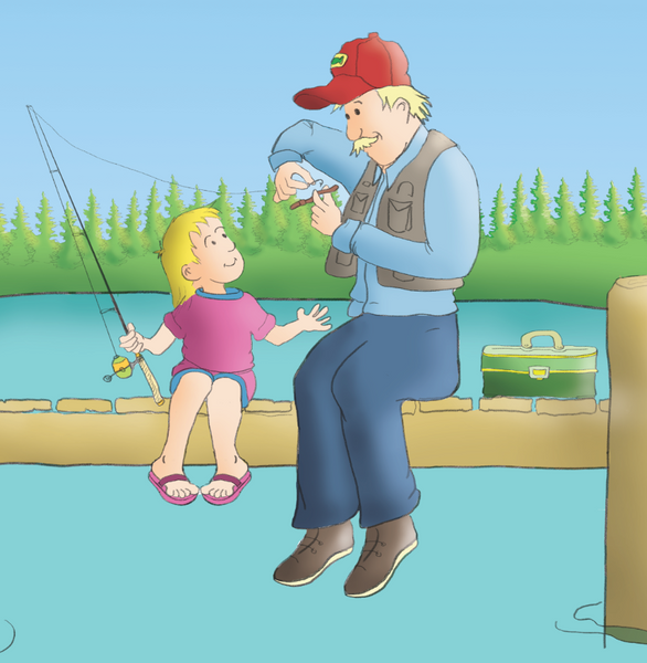 Why Grandpa Loves to Fish:  A Simple Explanation