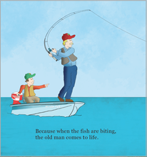 Load image into Gallery viewer, sample page  Why Does Grandpa Love to Fish?