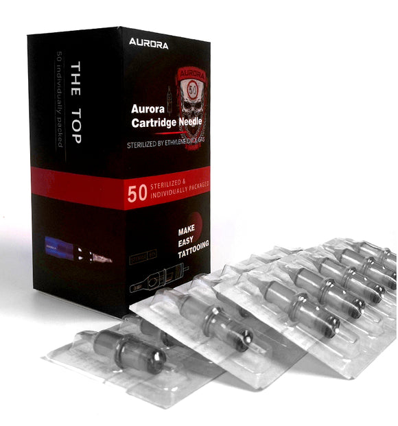 Aurora 50x Round Liner Multi-pack Needle Cartridges - dragonartus
