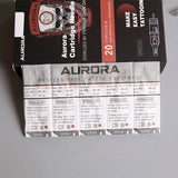 Aurora Round Shader Cartridge Needles (20 Pack) - dragonartus