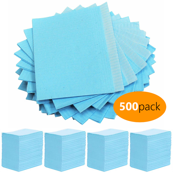 Blue Disposable Lap Cloth (500 Pack) - dragonartus