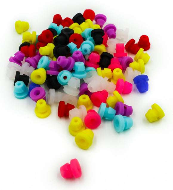 Plastic Tattoo Grommets Tattoo Nipples (100 Pack Assorted Colors) - dragonartus