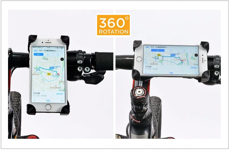 Pro Cellphone Mount For Mountain & Road Bikes, Universal FITS ALL