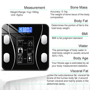 Echainstar Weighing Scale Body Fat Scale Bluetooth BMI Body Scales Smart Wireless Digital Bathroom Weight Scale Body Composition Analyzer Weighing Scale