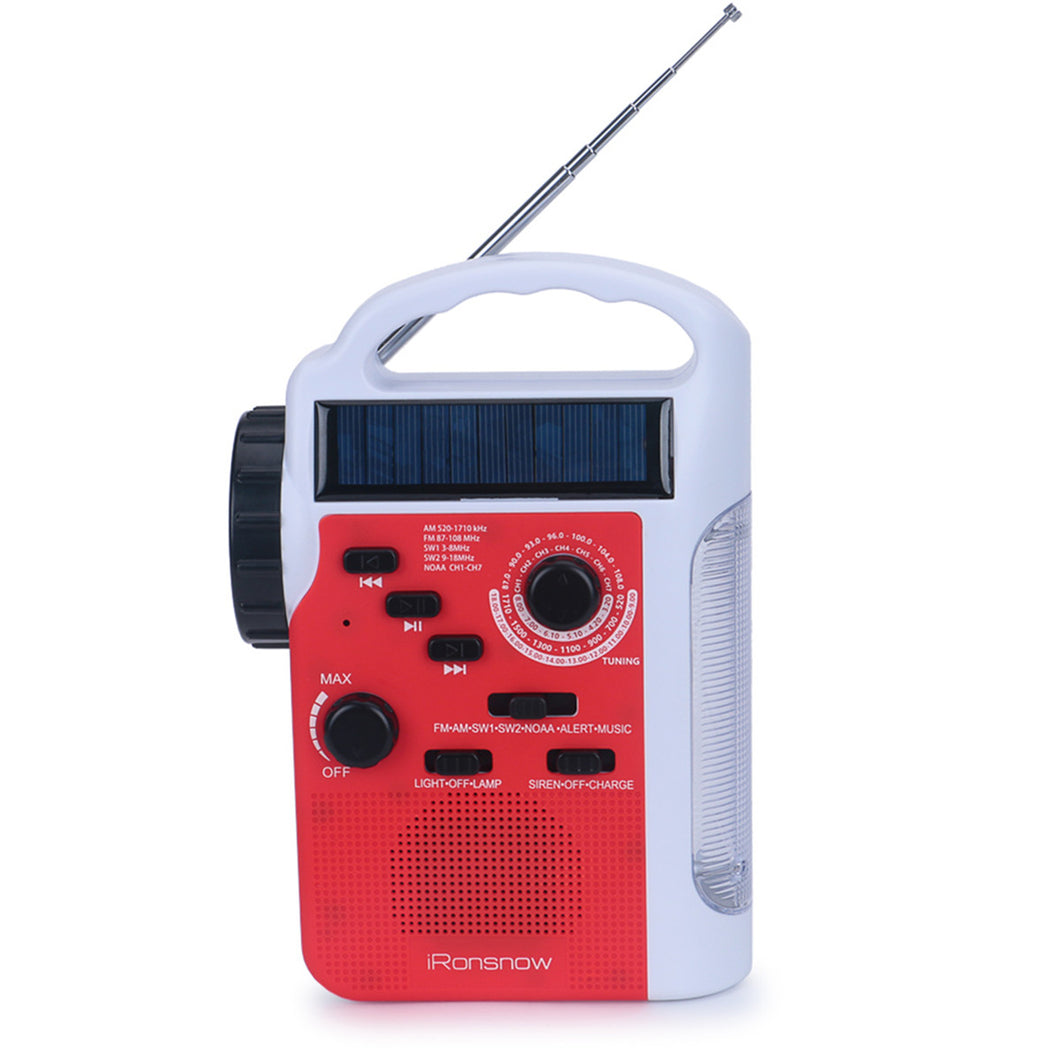 iRonsnow IS-399 Real NOAA Alert Weather Radio Lantern, Solar Crank Emergency AM/FM / SW/NOAA Radio