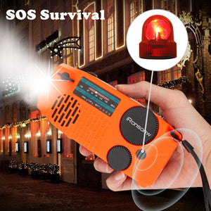 2020 Newest iRonsnow Emergency Solar Hand Crank Portable NOAA Weather Radio with AM/FM, Earphone Jack, LED Flashlight, 2000mAh Power Bank USB Phone Charger and SOS Alarm