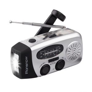 iRonsnow IS-088+ Solar Hand Crank AM/FM/NOAA Radio