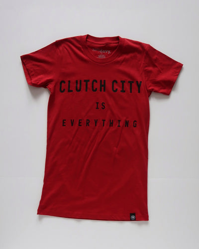 The Clutch City is Everything Tee (Women's Red/Black)