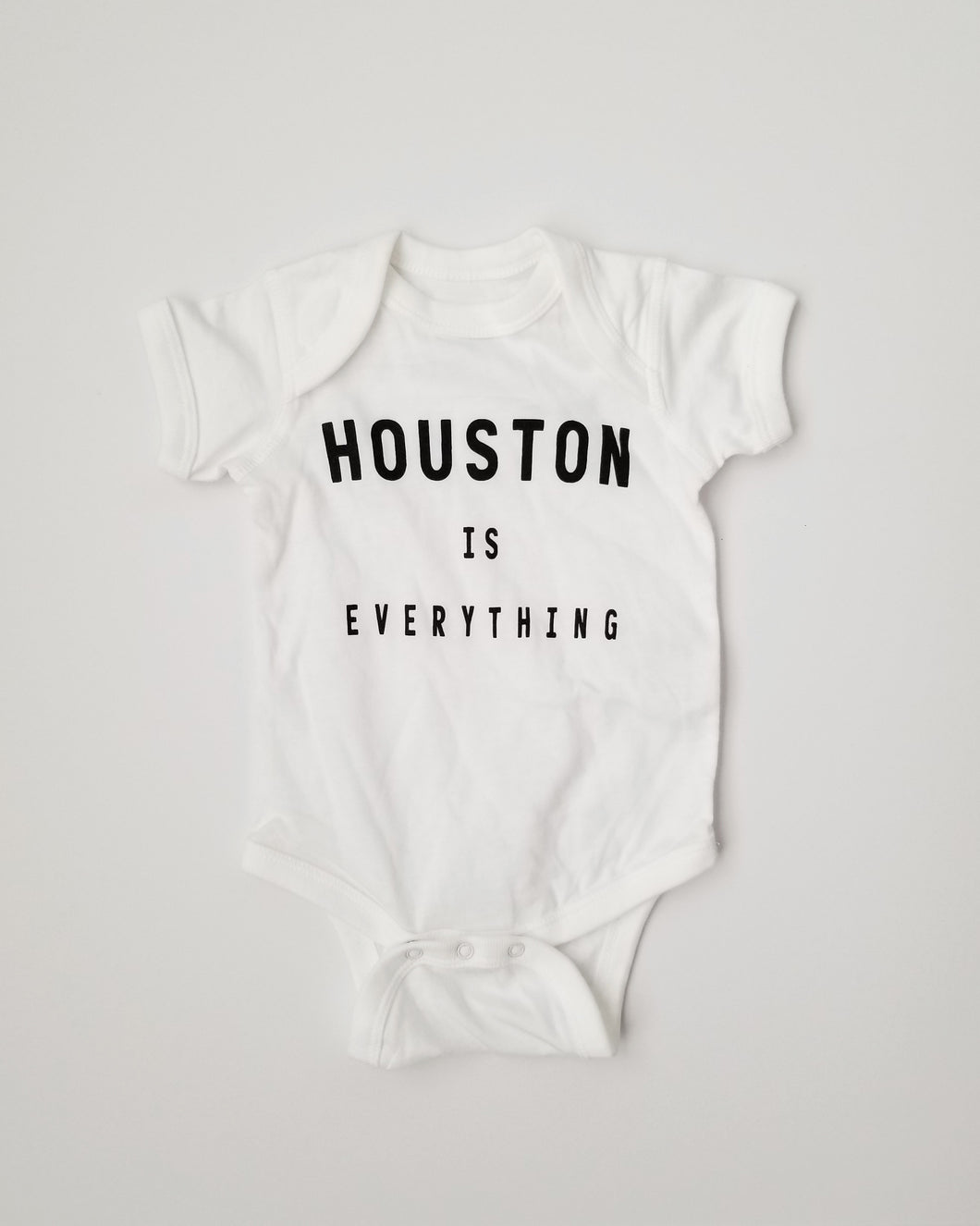 The Houston is Everything Onesie (White/Black)