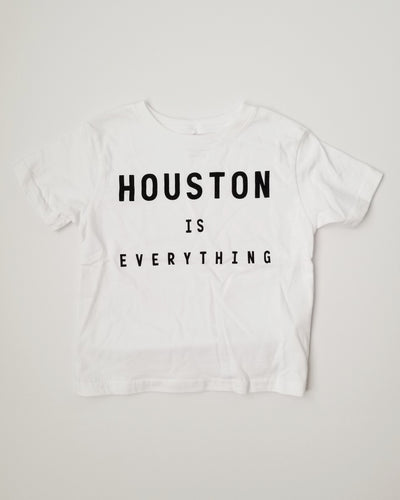 The Houston is Everything Toddler Tee (White/Black)