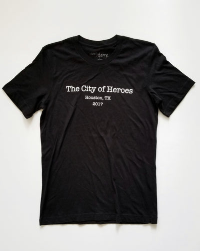 The City of Heroes Tee (Unisex Black/White)