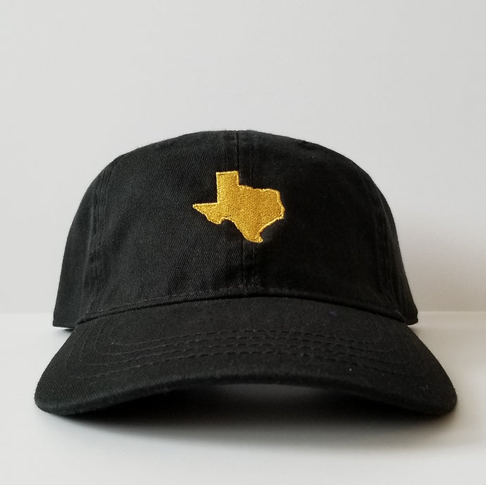 The Official Texas Dad Hat (Black/Gold)