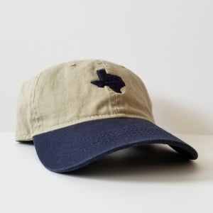 The Official Texas Dad Hat (Two-Toned Khaki/Navy)