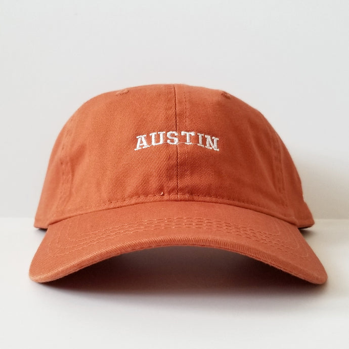 The Austin Hat (Burnt Orange/White)