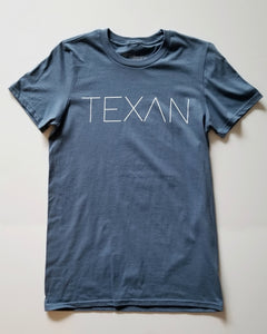 The Texan Tee (Unisex Blue/White)
