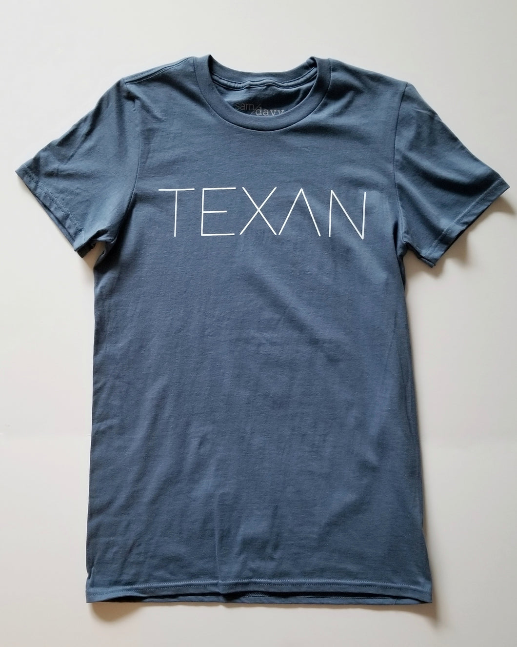 The Texan Pencil Tee (Unisex Blue/White)