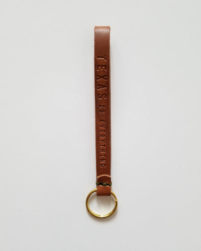 Texas is Everything Leather Key Loop - Vintage Brown