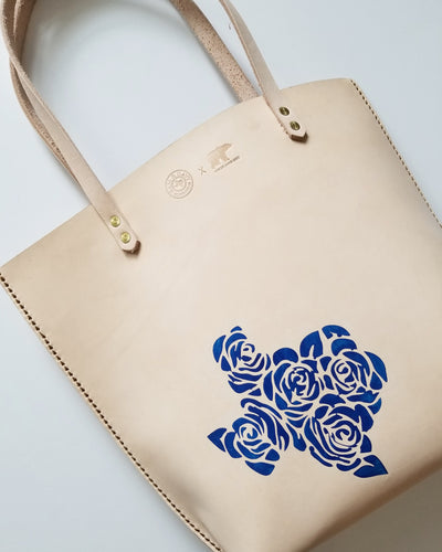Texas is Everything Rose Leather Tote by Bear Cub Leather