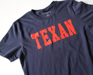 The Texan Collegiate Tee (Navy/Red)