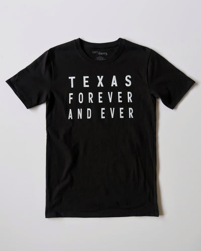 Texas Forever and Ever Tee (Black/White)