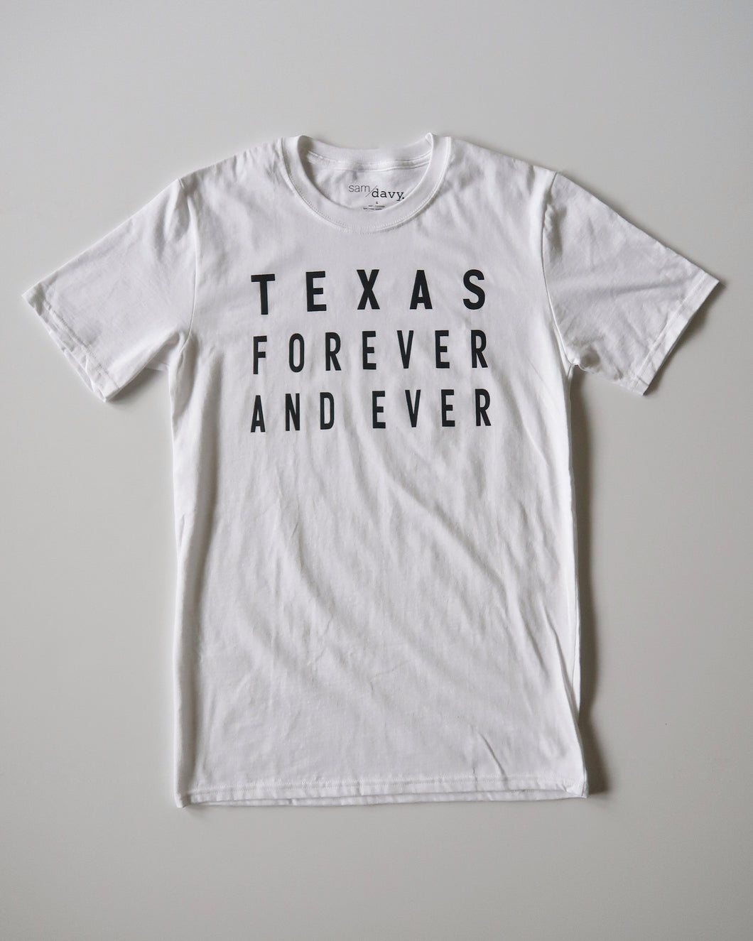 Texas Forever and Ever Tee (White/Black)