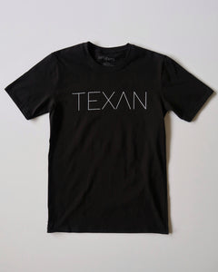 The Texan Pencil Tee (Black/White)