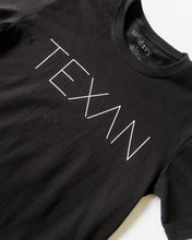 Load image into Gallery viewer, The Texan Pencil Tee (Black/White)