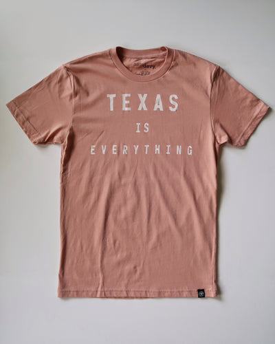 The Texas is Everything Tee (Unisex Ash Pink/White)