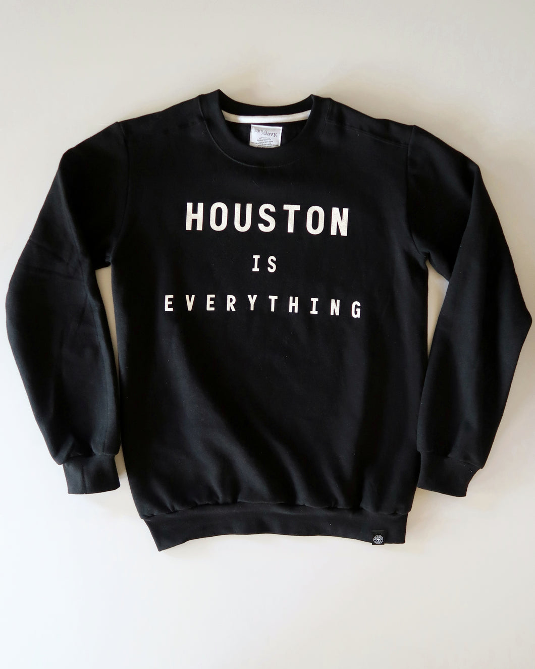 The Houston is Everything Crewneck (Unisex Black/White)
