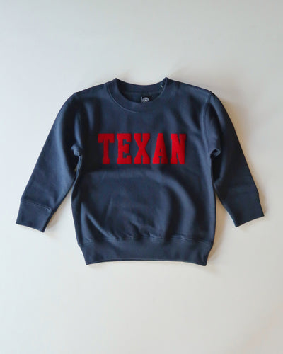 The Texan Toddler Crewneck(Navy/Red)