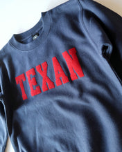 Load image into Gallery viewer, The Texan Toddler Crewneck(Navy/Red)