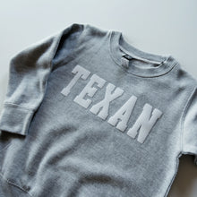 Load image into Gallery viewer, The Texan Toddler Crewneck (Grey/White)