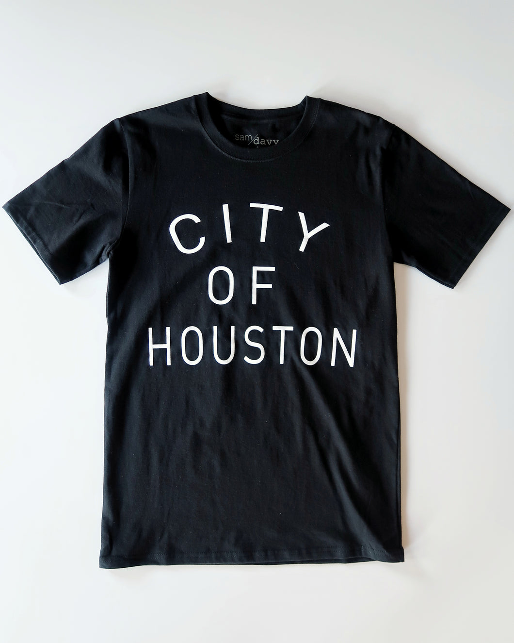 The City of Houston Tee (Unisex Black/White)