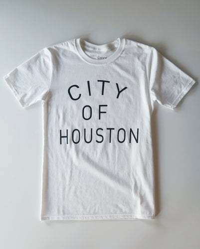 The City of Houston Tee (Unisex White/Black)