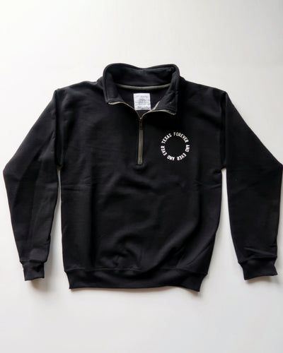 Texas Forever Circle Quarter-zip (Black/White)